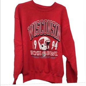 Sweaters - UNIVERSITY OF WISCONSIN VINTAGE CREWNECK!